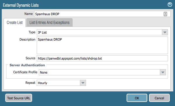 Palo Alto Firewall: External Dynamic Lists - ericooi com